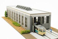 Modellbahn Union MU-H0-B00018 H0 Straßenbahndepot Fahrzeughalle Lasercutbausatz