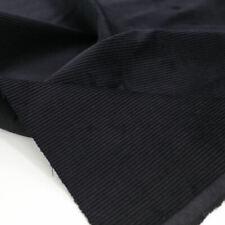 Schwarzer Cord Stoff aus Baumwolle Polsterstoff Genuacord Breitcord Meterware