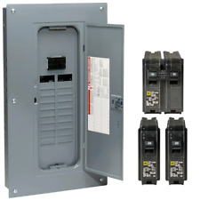 Square D Main Breaker Box Kit 100 Amp 20 Space 40 Circuit Plug On Neutral Indoor