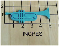 Trumpet Music Instrument shape Fondant Cookie Cutter and Stamp #1065