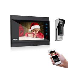 """TMEZON Wireless Video Doorbell WiFi Door Phone IR Camera 7"""" IP Monitor Intercom"""