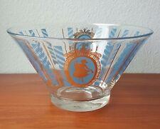 Aldon Greek Key Blue Gold Mid-Century Grecian Glass Chip Bowl Replacement