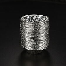 50Pcs Disposable Aluminum Foil Cup Muffin Cupcake Round Bake Tins Molds Cases 3C