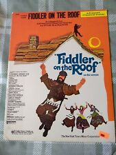 Fiddler On The Roof ADVANCED CLASSICAL GUITAR sheet music book 1976 songs screen