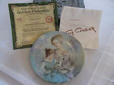 1984 Marie & Jaqueline Guy Cambier Limoge France Collector Plate