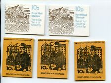 Five 10P Booklets 1975, Two 1976 & Two 1978