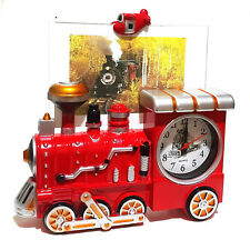 Retro Design Lokomotive Eisenbahn Lok Quartz Uhr Kaminuhr Bilderrahmen Fotouhr
