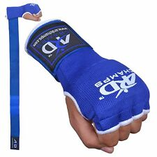 ARD FOAM PADDED INNER GLOVES WITH WRAPS MUAY THAI BOXING MARTIAL ARTS Blue S-XL