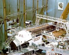 CONSTRUCTION OF THE SOVIET BURAN SPACE SHUTTLE CIRCA 1982 - 8X10 PHOTO (AA-772)