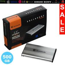 """External 2.5"""" Hard Drive Portable 500GB SATA  Dynamode USB Alumininum Enclosure"""