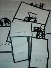 Authentic GUCCI Black and white Paper Shopping Gift Bag (differences size)