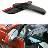 2pcs Rear View Side Mirror Flexible Sun Visor Shade Rain Shield Water Guard Blk