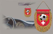 SWITZERLAND SOCCER FLAG CAR MINI BANNER, PENNANT