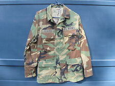 US MARINES USMC WOODLAND CAMOUFLAGE BDU COAT SMALL REGULAR MILITARY SURPLUS 3-J