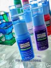 100 Plaid Gallery Glass Paints, Liquid Leading & Mediums ~ Choose your colors