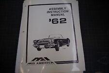 Chevy GM Corvette 1962 Riparazione Assemblaggio Servizio Manuale