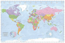 Póster Mapa Mundo Político Proyección Miller Laminado Brillante Nuevo Sellado De