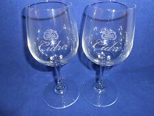 STELLA ARTOIS CIDRE SET OF TWO 2 GLASSES 200 mL 6.75 OZ 6.25 IN. WINE TASTER NEW