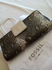 Fossil Madison Zip Clutch Wallet Purse New