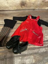 American Girl of Today Doll Red Vinyl Jumper Outfit retired