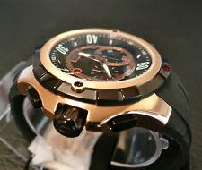ELINI barokas RARE Uomo Nero & Rose Gold-Tone cronografo svizzero ISA