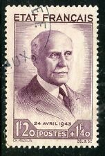 STAMP / TIMBRE FRANCE OBLITERE N° 576 / SECOURS NATIONAL / PETAIN