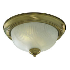 Searchlight Mounted Opal Glass Traditional Brass Flush Ceiling Fitting Light New