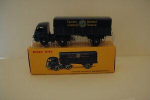 Camion réédition DINKY TOYS atlas : N°32AB Tracteur Panhard et Remorque SNCF