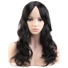 Women Cosplay Costume Hair Wig Anime Party Full Wig Long Wavy Halloween Black #D