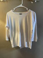 Patagonia Women's Size Small Striped Light Peach 3/4 Sleeve Shirt