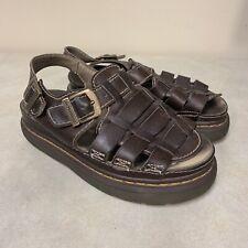 Dr. Doc Martens Brown Leather Fisherman Sandals Size Men 9 Women 10