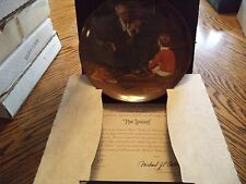 "Vintage Knowles Norman Rockwell ""The Tycoon"" Collector Plate In Box"