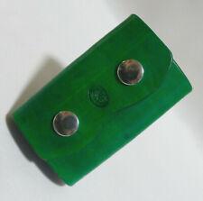 Schlüsseletui Schlüsselmäppchen Leder grün Handarbeit