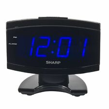 Sharp SPC106X LED Alarm Clock (Black) New