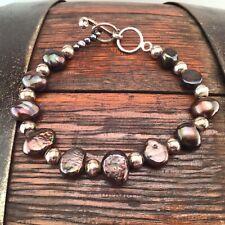 Beautiful Signed SILPADA Sterling Silver & Freshwater Pearl Bracelet