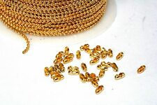 32ft Iron Gold 1.5mm Ball bead Chain links Expedited Shipping Available