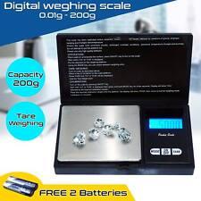 Electronic Pocket Mini Digital Jewellery Weighing Scale 0.01g Weight 200 Gram UK