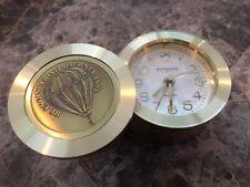 Engelhard RE ENGINEERING JOURNEY Wittnauer Brass Alarm Clock - Germany