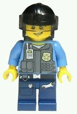 Lego City Undercover Elite Police Officer Minifigure Cop Light Blue Grey Vest