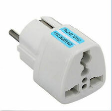 universal UK US AU to EU Europe Wall Plug in Converter Travel Power Adapter home