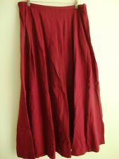 April Cornell Wine Red Skirt New L Large Vintage Romantic A-line NWT Tuck