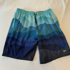 New listing Nike Mens Swimming BOARD Trunks Size XL  RN 37763 Polyester Blue Black Green