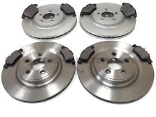 FOR JAGUAR XF 2.2 DIESEL 2011-2016 FRONT AND REAR BRAKE DISCS & PADS SET NEW