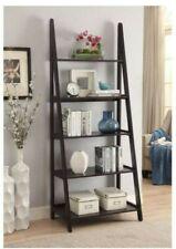 Espresso Wood 5 shelf Ladder Bookcase 72 Inch Great Condition pick-up Atlanta