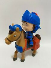 """Fisher Price Mike The Knight Toy Action Figure w/ Horse Cartoon Figure 3"""" Mini"""