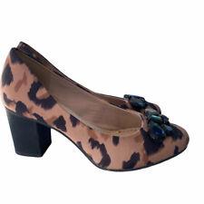 CLARKS Leopard Print Mid Heel Court Shoes Sz 5.5 UK / 39 EU / b43