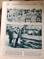 74-4 Ephemera 1916 Ww1 Picture Mr Asquith Inspects The Front Line 1 Page