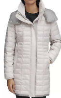 NWOT Marc New York Womens Marble Packable Hooded Puffer Coat Putty Size M