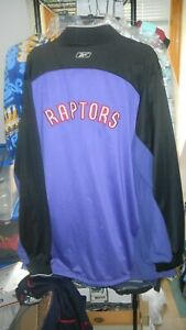 Toronto Raptors Jacket Men's 2XL Great shape Reebok Team Apparel NBA Authentics