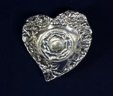 Arthur Court Heart Shape Rose Taper Candle Holder Flowers Sculptural Art Floral